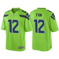 Men's Seattle Seahawks 12th Fan Green Color Rush Limited Jersey