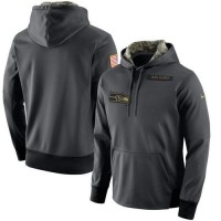 Men's Seattle Seahawks Nike Anthracite Salute to Service Player Performance Hoodie