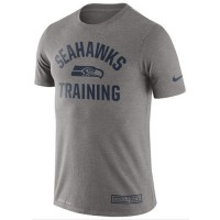 Men's Seattle Seahawks Nike Heathered Gray Training Performance T-Shirt