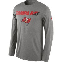 Men's Tampa Bay Buccaneers Nike Heather Gray Legend Staff Practice Long Sleeves Performance T-Shirt