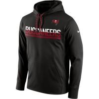 Men's Tampa Bay Buccaneers Nike Pewter Sideline Circuit Pullover Performance Hoodie