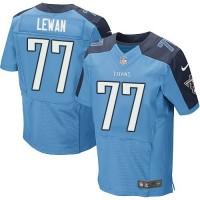 Men's Tennessee Titans #77 Taylor Lewan Light Blue Elite NFL Jersey