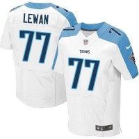 Men's Tennessee Titans #77 Taylor Lewan White Elite NFL Jersey