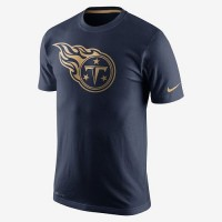 Men's Tennessee Titans Nike Navy Championship Drive Gold Collection Performance T-Shirt