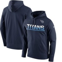 Men's Tennessee Titans Nike Navy Sideline Circuit Pullover Performance Hoodie
