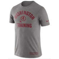 Men's Washington Redskins Nike Heathered Gray Training Performance T-Shirt