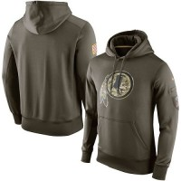 Men's Washington Redskins Nike Olive Salute To Service KO Performance Hoodie