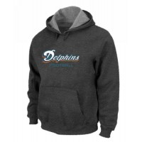 Miami Dolphins Authentic Font Pullover Hoodie Dark Grey