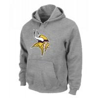 Minnesota Vikings Logo Pullover Hoodie Grey