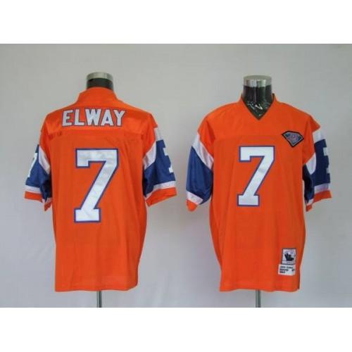 3ed12c50 Mitchel & Ness Broncos #7 John Elway Orange With 75 Anniversary ...