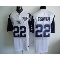 Mitchell & Ness Cowboys #22 Emmitt Smith White Stitched Throwback NFL Jersey