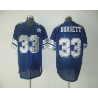 Mitchell & Ness Cowboys #33 Tony Dorsett Blue With 25TH Stitched Throwback NFL Jersey