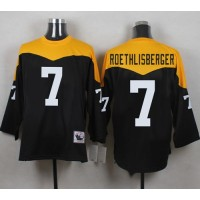 Mitchell And Ness 1967 Steelers #7 Ben Roethlisberger BlackYelllow Throwback Men's Stitched NFL Jersey