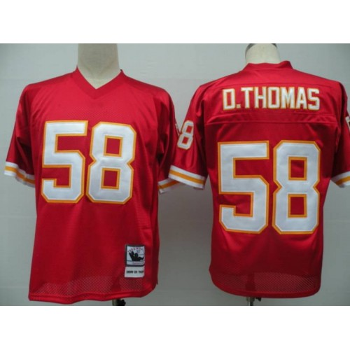 179c4fab8 Mitchell And Ness Chiefs  58 Derrick Thomas Red Throwback Stitched NFL  Jersey