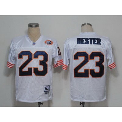 Mitchell and Ness Bears  23 Devin Hester White Big No. Stitched NFL Jersey 75ec240b2