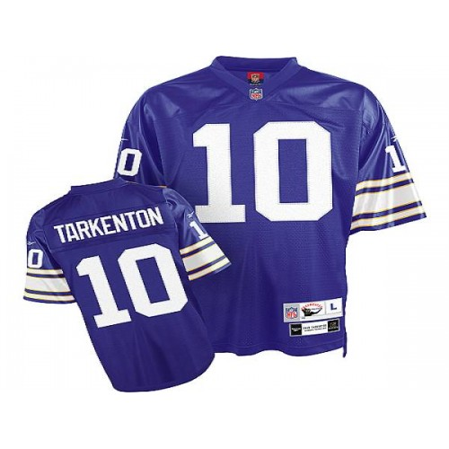 Mitchell&Ness Vikings #10 Fran Tarkenton Purple Stitched Throwback  hot sale