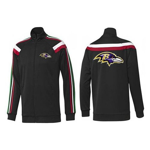 newest d7559 b4341 NFL Baltimore Ravens Team Logo Jacket Black_2
