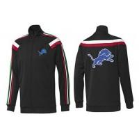 NFL Detroit Lions Team Logo Jacket Black_2