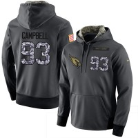 NFL Men's Nike Arizona Cardinals #93 Calais Campbell Stitched Black Anthracite Salute to Service Player Performance Hoodie