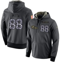 NFL Men's Nike Baltimore Ravens #88 Dennis Pitta Stitched Black Anthracite Salute to Service Player Performance Hoodie