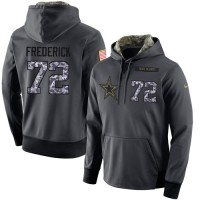 NFL Men's Nike Dallas Cowboys #72 Travis Frederick Stitched Black Anthracite Salute to Service Player Performance Hoodie