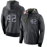 NFL Men's Nike Oakland Raiders #42 Karl Joseph Stitched Black Anthracite Salute to Service Player Performance Hoodie