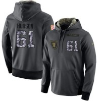 NFL Men's Nike Oakland Raiders #61 Rodney Hudson Stitched Black Anthracite Salute to Service Player Performance Hoodie