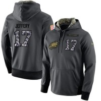 NFL Men's Nike Philadelphia Eagles #17 Alshon Jeffery Stitched Black Anthracite Salute to Service Player Performance Hoodie