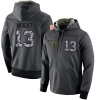 NFL Men's Nike Tennessee Titans #13 Kendall Wright Stitched Black Anthracite Salute to Service Player Performance Hoodie
