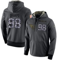 NFL Men's Nike Tennessee Titans #98 Brian Orakpo Stitched Black Anthracite Salute to Service Player Performance Hoodie