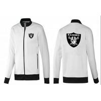 NFL Oakland Raiders Team Logo Jacket White_1