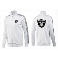 NFL Oakland Raiders Team Logo Jacket White_3