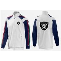 NFL Oakland Raiders Team Logo Jacket White_4