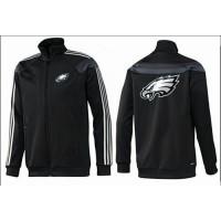 NFL Philadelphia Eagles Team Logo Jacket Black_4