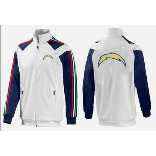brand new 0ef96 9fc8f NFL San Diego Chargers Team Logo Jacket White