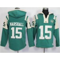 New York Jets #15 Brandon Marshall Green Player Winning Method Pullover NFL Hoodie