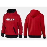 New York Jets Critical Victory Pullover Hoodie Red & Black
