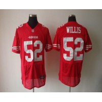 Nike 49ers #52 Patrick Willis Red Team Color Men's Stitched NFL Elite Jersey