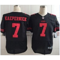 Nike 49ers #7 Colin Kaepernick Black Alternate Men's Stitched NFL Elite Jersey