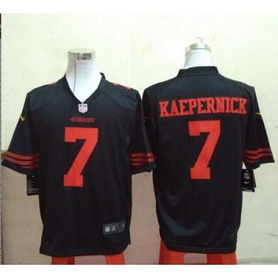 Nike 49ers  7 Colin Kaepernick Black Alternate Men s Stitched NFL Game  Jersey d3b1ea53b