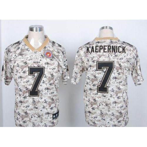 the best attitude 6f7db bba36 Nike 49ers #7 Colin Kaepernick Camo USMC Men's Stitched NFL ...
