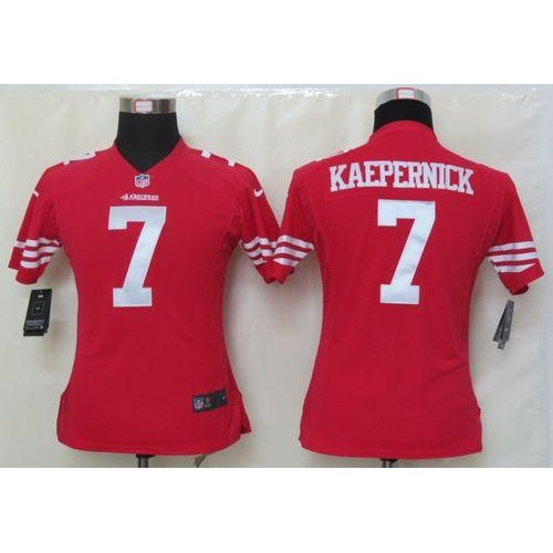 4f6bbd22b Nike 49ers  7 Colin Kaepernick Red Team Color Women s Stitched NFL Elite  Jersey