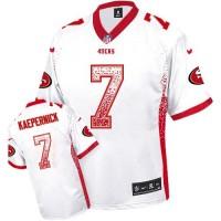 Nike 49ers #7 Colin Kaepernick White Men's Stitched NFL Elite Drift Fashion Jersey