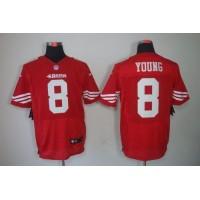 Nike 49ers #8 Steve Young Red Team Color Men's Stitched NFL Elite Jersey