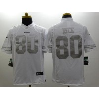 Nike 49ers #80 Jerry Rice White Men's Stitched NFL Limited Platinum Jersey