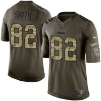 Nike 49ers #82 Torrey Smith Green Youth Stitched NFL Limited Salute to Service Jersey