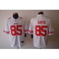 Nike 49ers #85 Vernon Davis White Men's Stitched NFL Limited Jersey