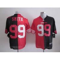 Nike 49ers #99 Aldon Smith BlackRed Men's Stitched NFL Elite Split Jersey