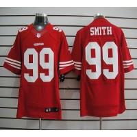 Nike 49ers #99 Aldon Smith Red Team Color Men's Stitched NFL Elite Jersey