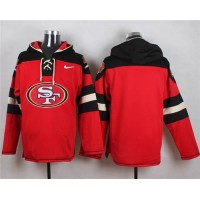 Nike 49ers Blank Red Player Pullover NFL Hoodie